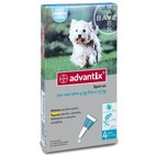ADVANTIX Spot on CANI fino a 4-10 Kg - 4 Pipette